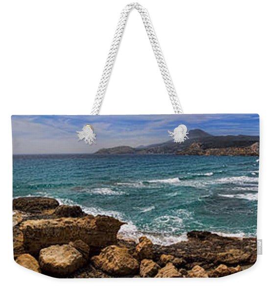 Dramatic Ocean Panorama On Milos Island Greece Weekender Tote Bag
