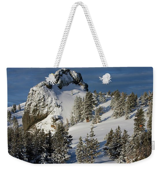 Dramatic View Of The Sprawling Weekender Tote Bag