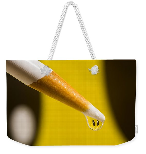 Happy Water Drop Pencil Weekender Tote Bag