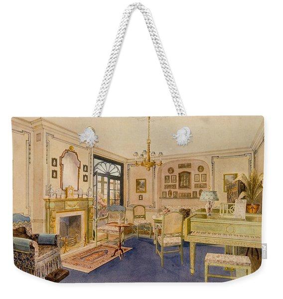 Drawing Room Adam Revival Style Weekender Tote Bag