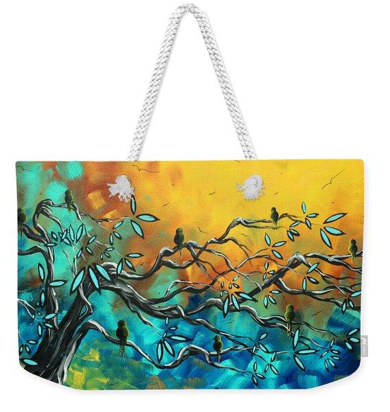 Dream Watchers Original Abstract Bird Painting Weekender Tote Bag