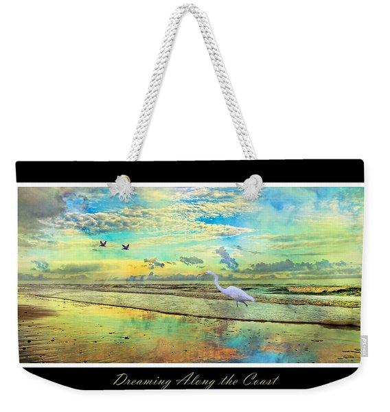Dreaming Along The Coast -- Egret  Weekender Tote Bag