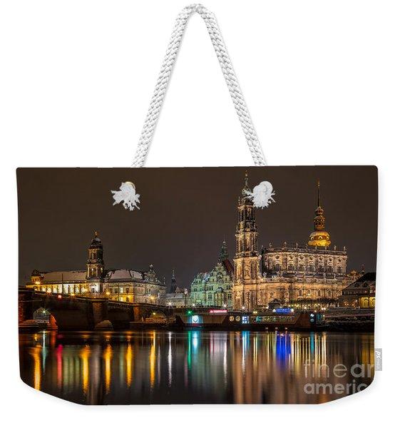Dresden By Night Weekender Tote Bag