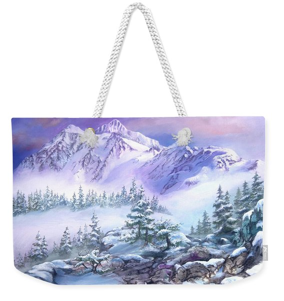 Dressed In White Mount Shuksan Weekender Tote Bag