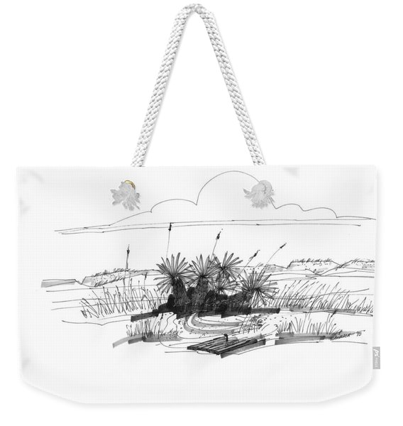 Drift Wood And Yucca Plants Weekender Tote Bag