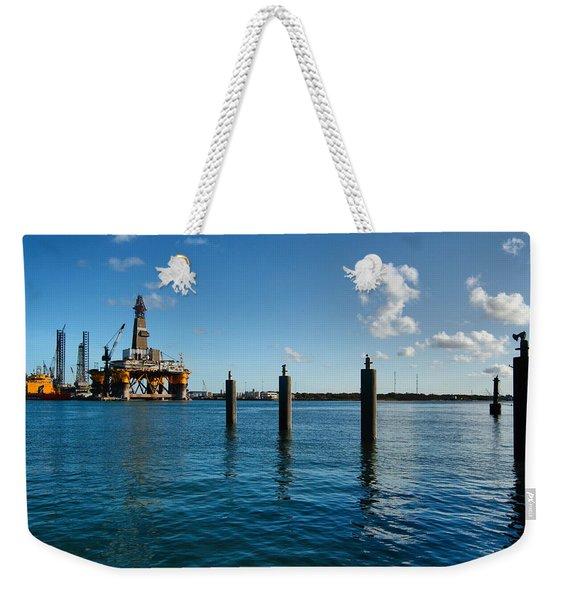 Drilling Rig Weekender Tote Bag