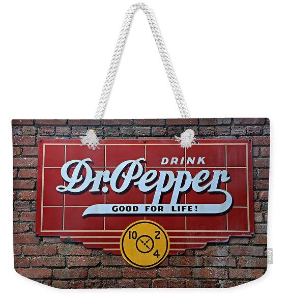 Drink Dr. Pepper - Good For Life Weekender Tote Bag