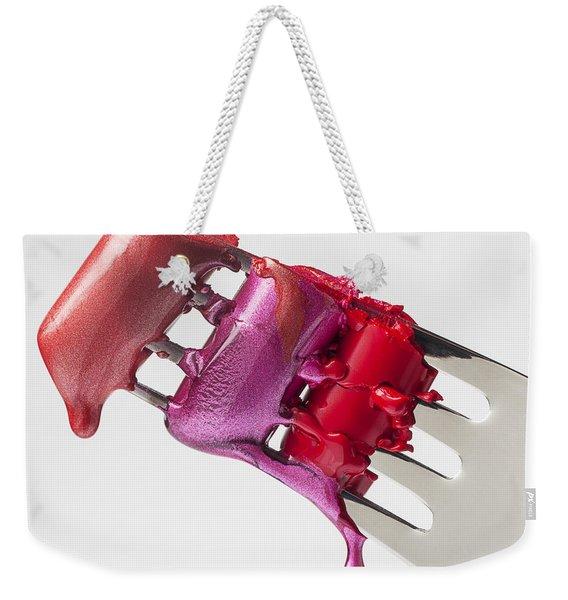 Dripping Lipstick Weekender Tote Bag