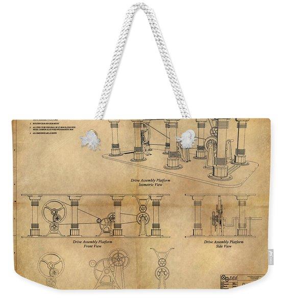 Drive Assembly Platform Weekender Tote Bag
