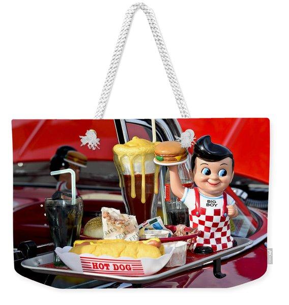 Drive-in Food Classic Weekender Tote Bag