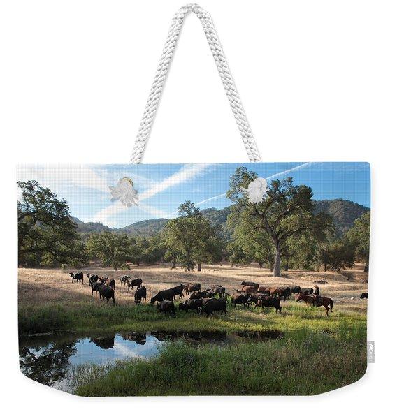 Drivin' Cattle Weekender Tote Bag