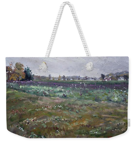 Drizzly Day By Shaw Barn  Weekender Tote Bag