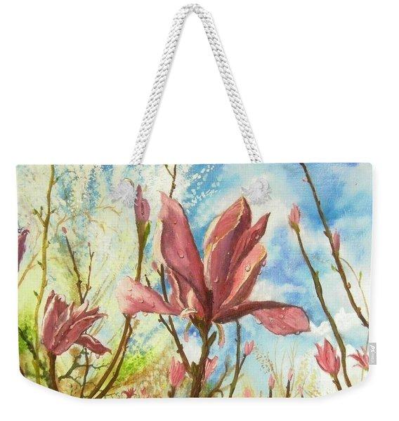 Drops Of Morning Weekender Tote Bag
