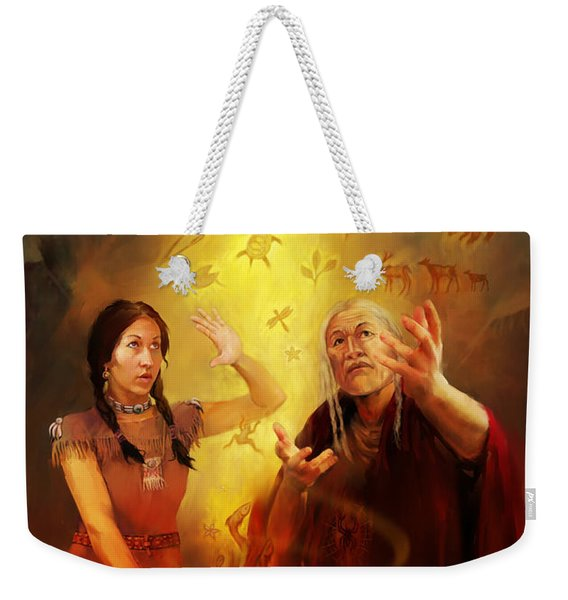 Drum Story Elders Teaching Weekender Tote Bag