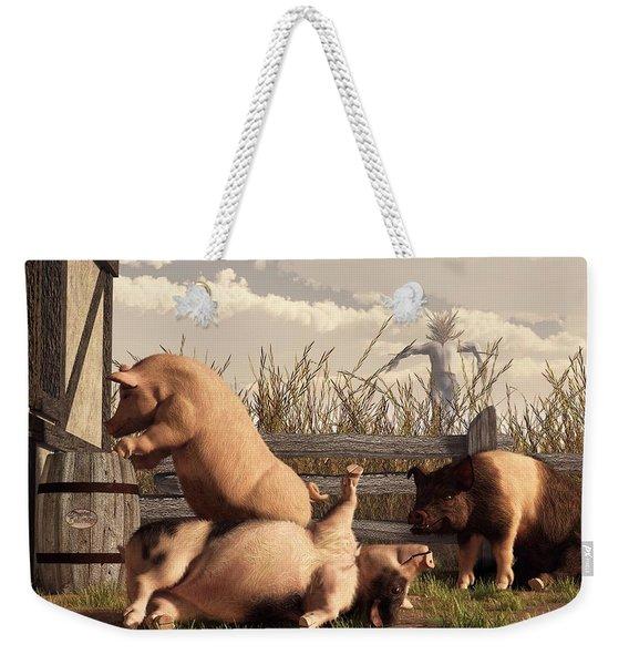 Drunken Pigs Weekender Tote Bag