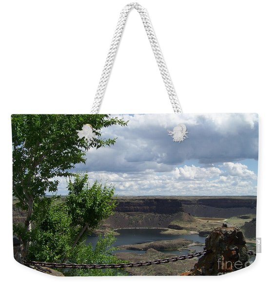 Dry Falls Overlook Weekender Tote Bag