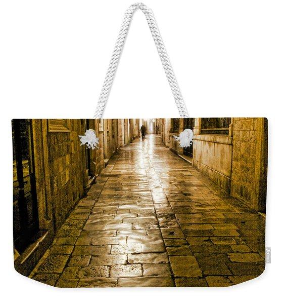 Dubrovnik Streets At Night Weekender Tote Bag