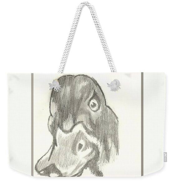 Duck Bill In Pencil Weekender Tote Bag
