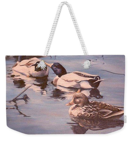 Ducks On The Cachuma Weekender Tote Bag