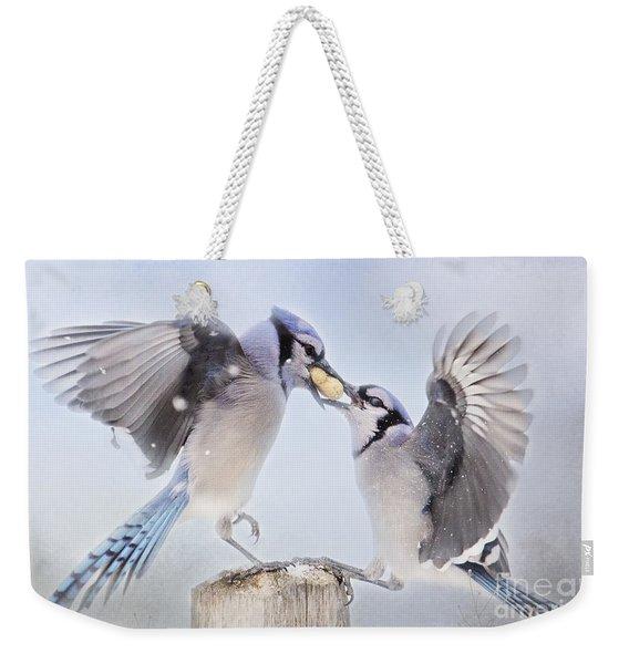 Dueling Jays Weekender Tote Bag