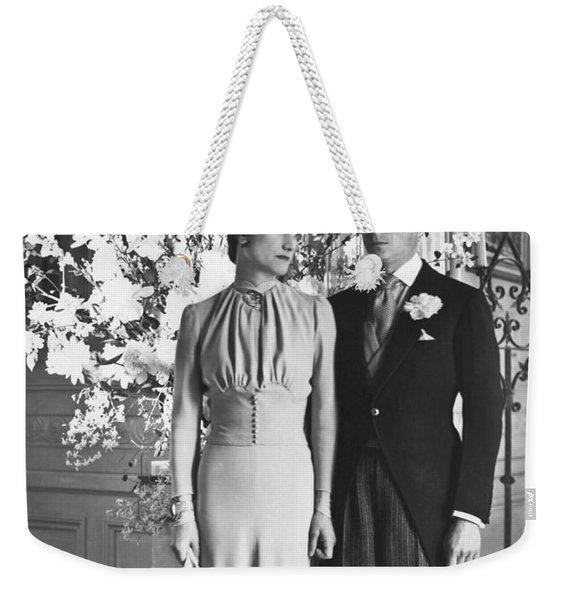 Duke And Duchess Of Windsor Weekender Tote Bag