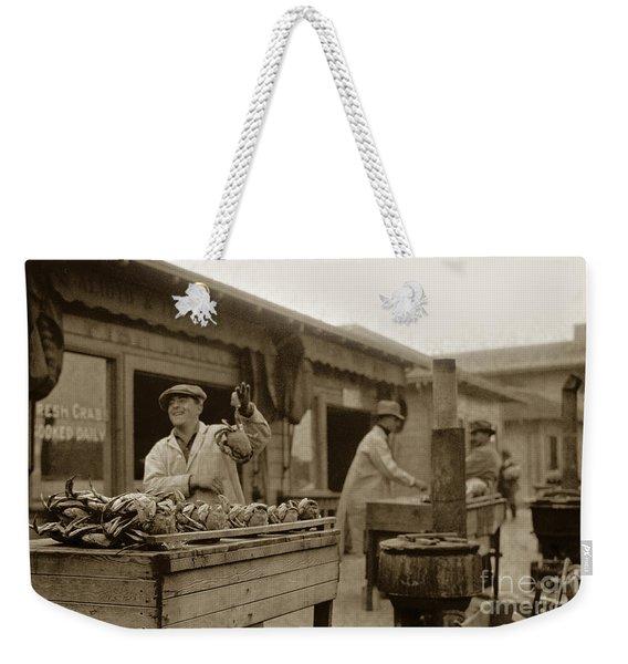 Dungeness Crabs At Fisherman's Wharf At San Francisco California. Circa 1935 Weekender Tote Bag