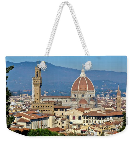 Duomo Florence And Palazzo Vecchio Weekender Tote Bag