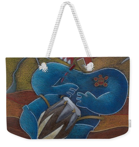 Weekender Tote Bag featuring the painting Duro A Los Cueros by Oscar Ortiz