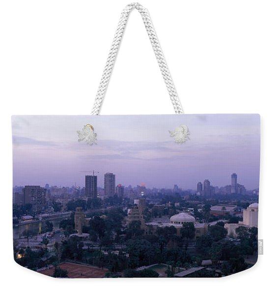 Dusk Cairo Gezira Island Egypt Weekender Tote Bag