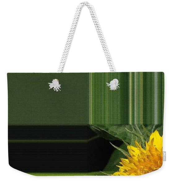 Dwarf Sunflower Named Teddy Bear Weekender Tote Bag