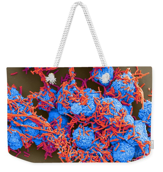 E Coli And Macrophages Sem Weekender Tote Bag