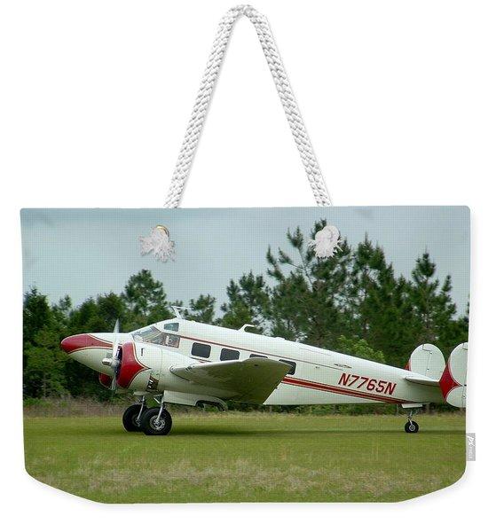 E18s Twin Beech Weekender Tote Bag