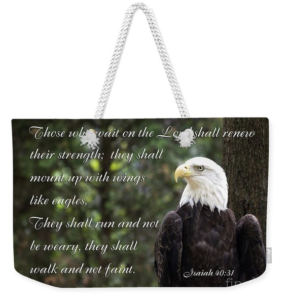 Eagle Scripture Isaiah Weekender Tote Bag