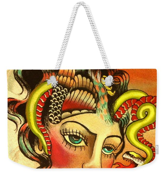 Eagle/snake Hat Weekender Tote Bag