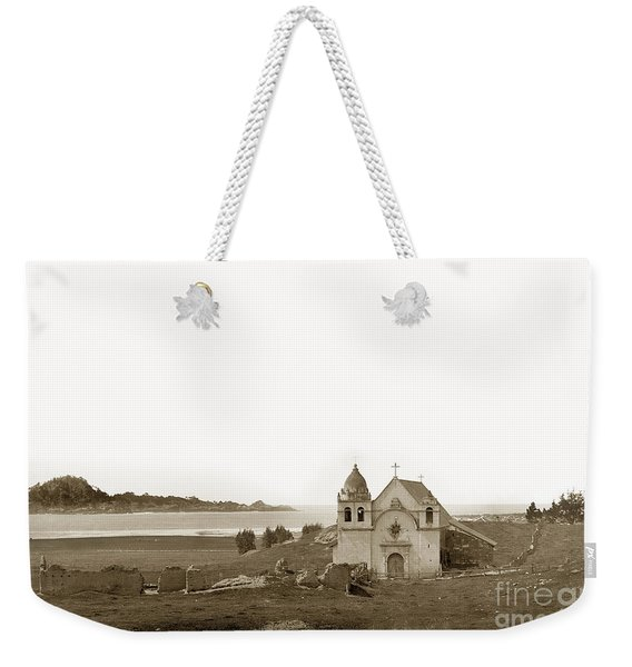 Early Carmel Mission And Point Lobos California Circa 1884 Weekender Tote Bag