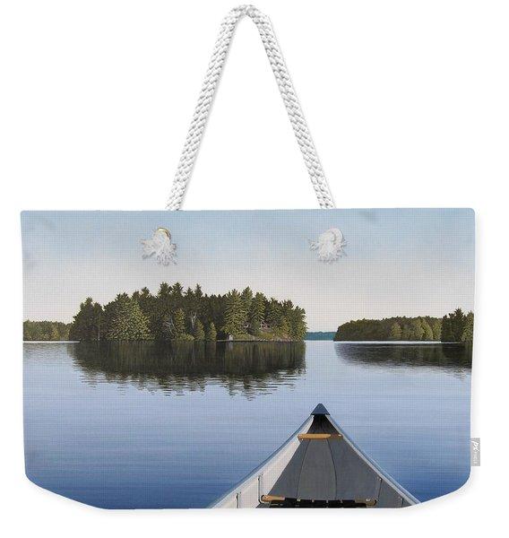 Early Evening Paddle Aka Paddle Muskoka Weekender Tote Bag
