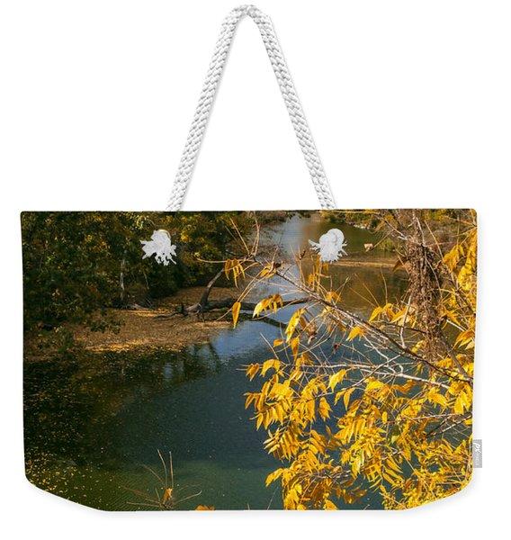 Early Fall On The Navasota Weekender Tote Bag