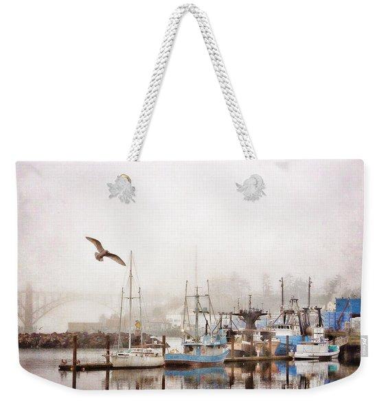 Early Morning Newport Oregon Weekender Tote Bag
