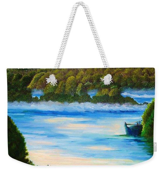 Early Morning On Lake Peipsi  Weekender Tote Bag