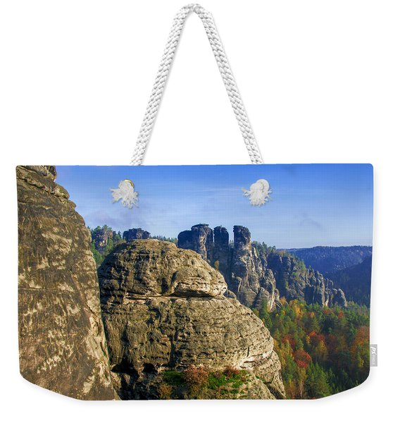Early Morning On Neurathen Castle Weekender Tote Bag