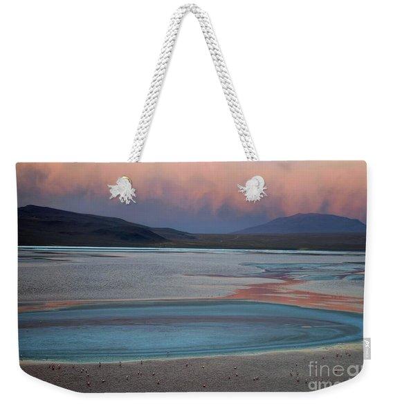 Laguna Colorada - Early Morning Pink Weekender Tote Bag