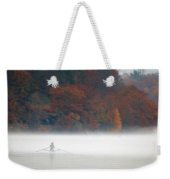 Early Morning Row Weekender Tote Bag