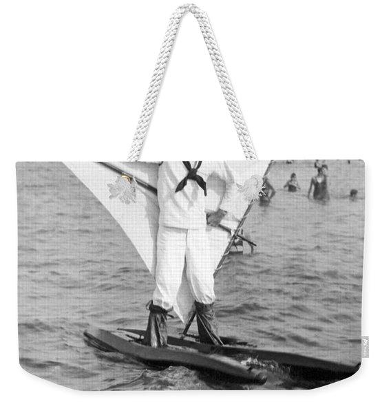 Early Wind Surfer In 1926 Weekender Tote Bag
