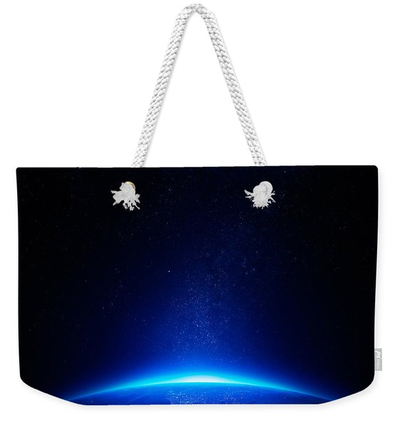 Earth At Night With City Lights Weekender Tote Bag