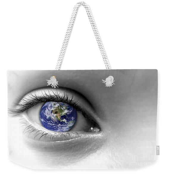 Earth Eye Weekender Tote Bag