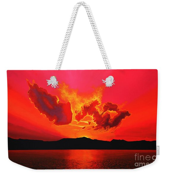 Earth Sunset Weekender Tote Bag
