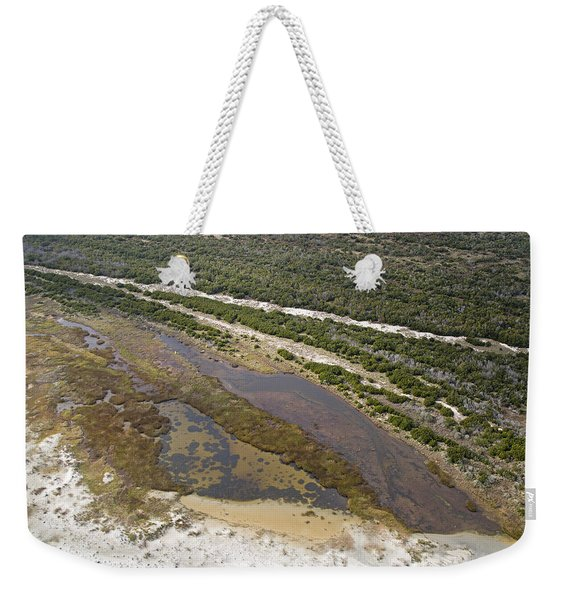 East Coast Aerial Near Jekyll Island Weekender Tote Bag