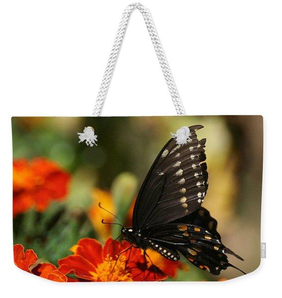 Eastern Swallowtail On Marigold Weekender Tote Bag