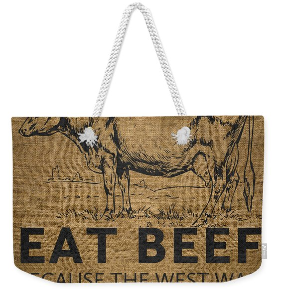 Eat Beef Weekender Tote Bag