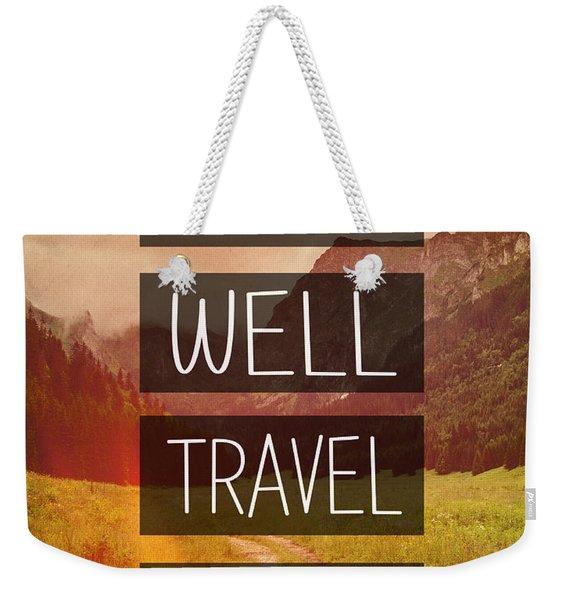 Eat Well Travel Often Weekender Tote Bag